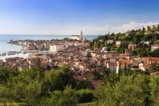 Picturesque old town Piran - Slovenia.