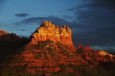 Landscape sunset evening of red rock at Sedona Arizona