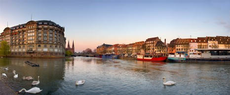 Central part of Strasbourg city, France