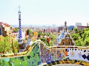 BARCELONA, SPAIN The famous Park Guell