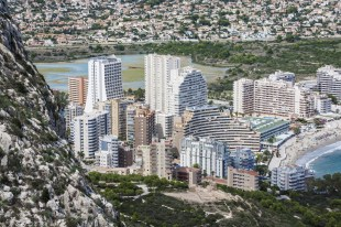 Mediterranean Resort Calpe, Spain with lagoon Las Salinas
