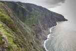 View of beautiful mountains and ocean of Madeira island, Portugal