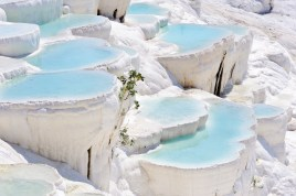 travertine pools at ancient Hierapolis (Pamukkale Turkey)