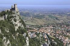 San Marino over the seaside