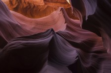 Rock formations in Lower Antelope Canyon