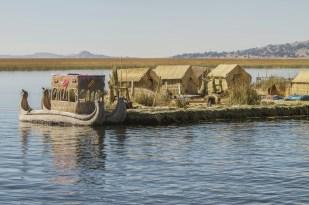 Floating Island Uros, Lake Titicaca, Peru, Bolivia