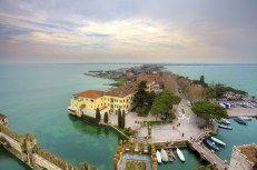 View on Sirmione and Lake Garda from the Scaliger castle.