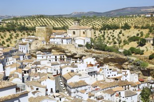 Village of Setenil in Andalusia, Spain
