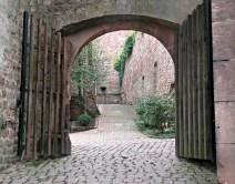 brick courtyard arch