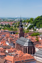 Rooftops of Heidelberg old town, Baden-Wurttemberg, Germany