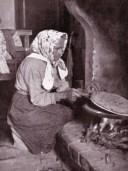 Lady making Piadina