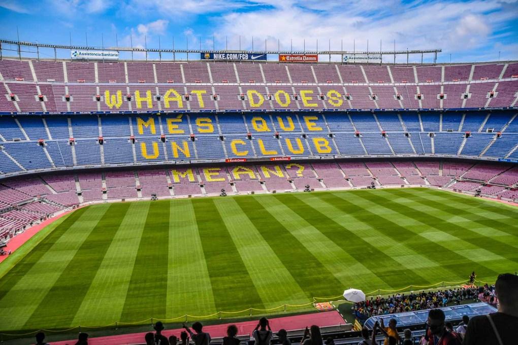 Barcelona football stadium - Camp Nou