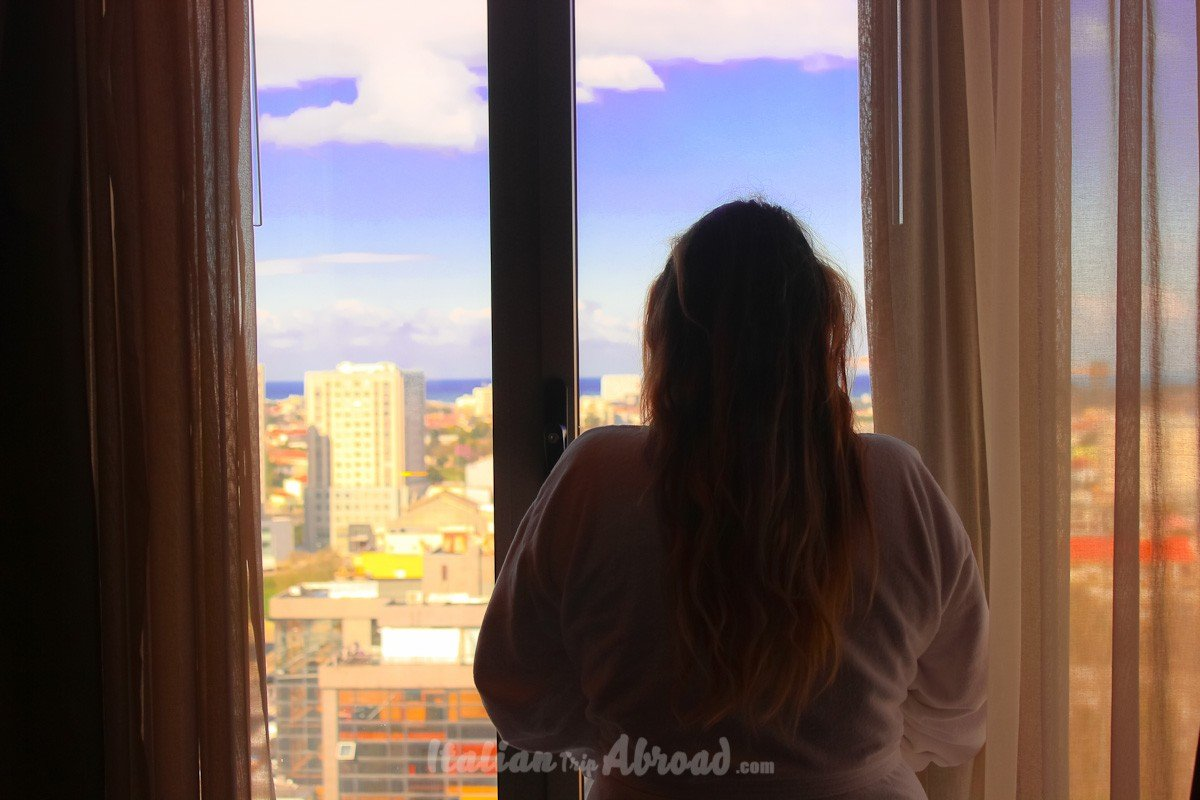 Alessia Italian Trip abroad suite at 12th floor Porto Portugal