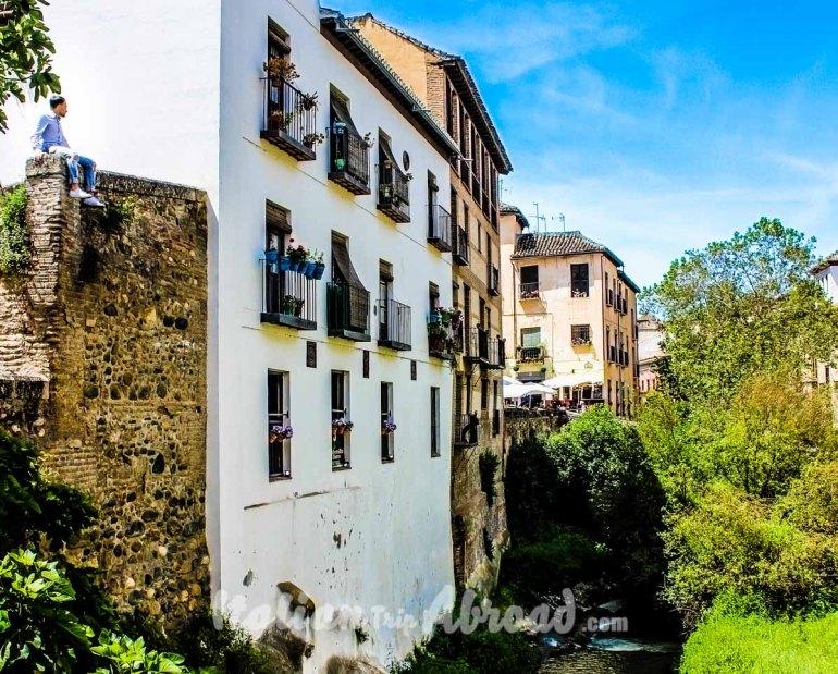 City centre of Granada Spain - Tour of Andalucia