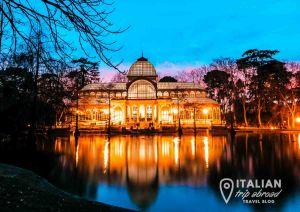 Madrid Retiro Park in winter
