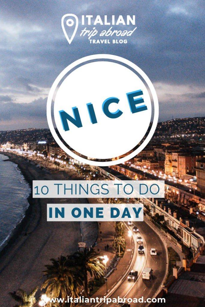 Promenade of Nice at night, Pin Me!