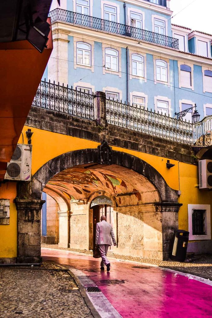 Overview of Pink Street in Lisbon- Rua do Carvalho in Lisbon