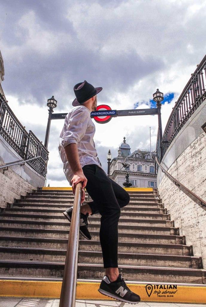 Piccadilly circus Tube Entrance - Metropolitan Train of London - United Kingdom