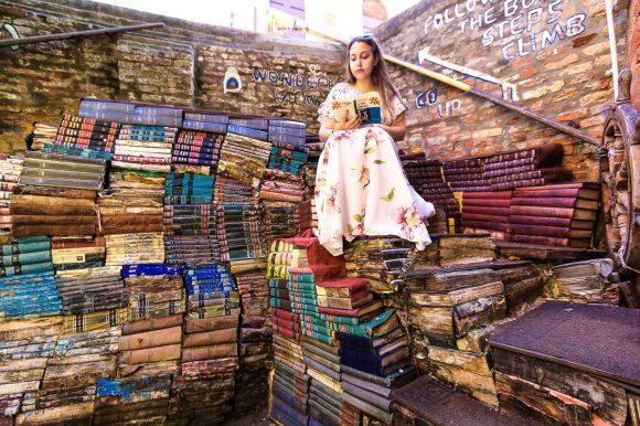 Venice Acqua Alta Bookstore I Best Instagram spots in Venice
