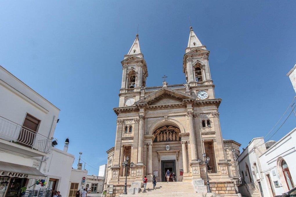 Basilica Santi Cosma e Damiano in Alberobello, Italy