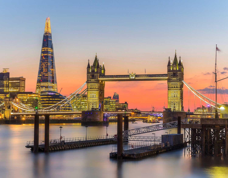 Amazing sunset spots in London - Tower Bridge at sunset