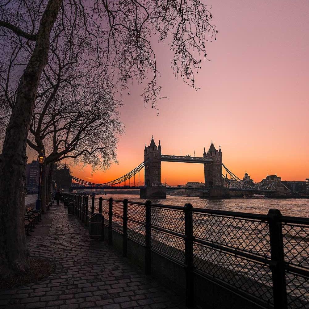 Best sunset spots in London - Tower Bridge sunset