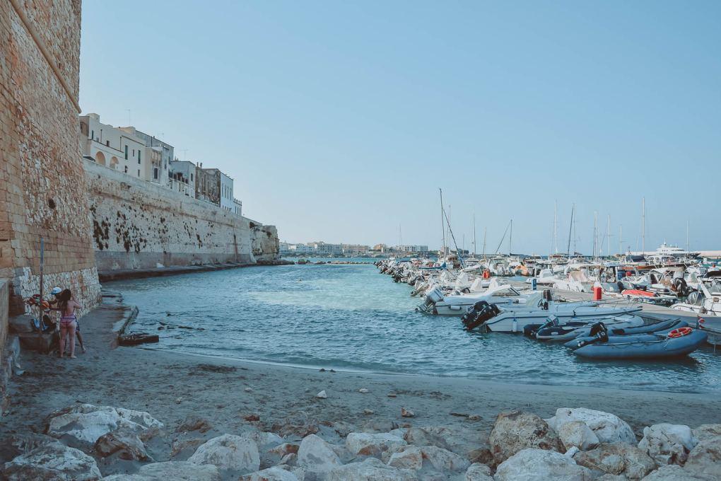 Otranto Bay nearby the beach of steps