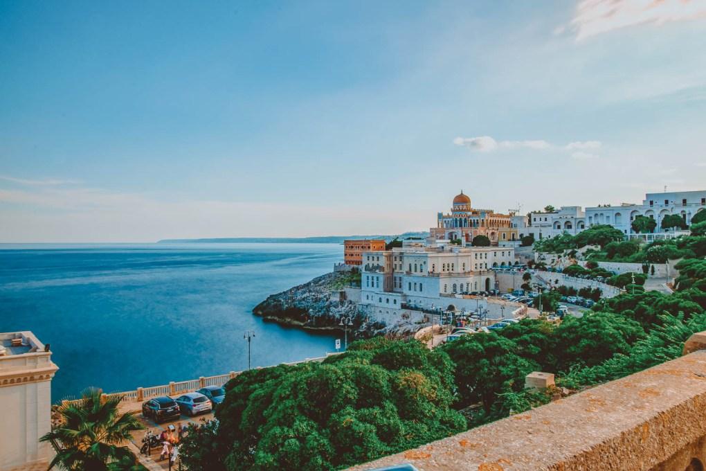 The nice beach town of Santa Cesarea Terme ideal for families