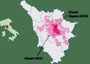 Chianti zone map