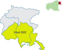 Friuli DOC map
