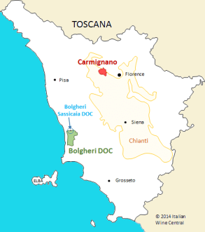 Toscana with Bolgheri and Carmignano