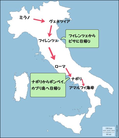 モデルコースイタリア縦断