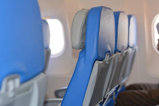 飛行機のシート