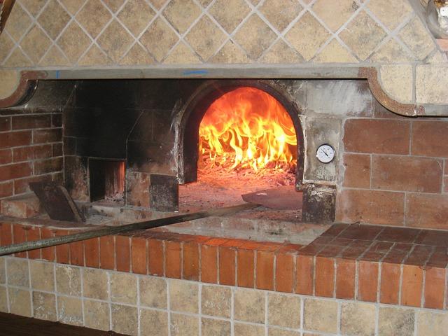 ナポリのピザの窯