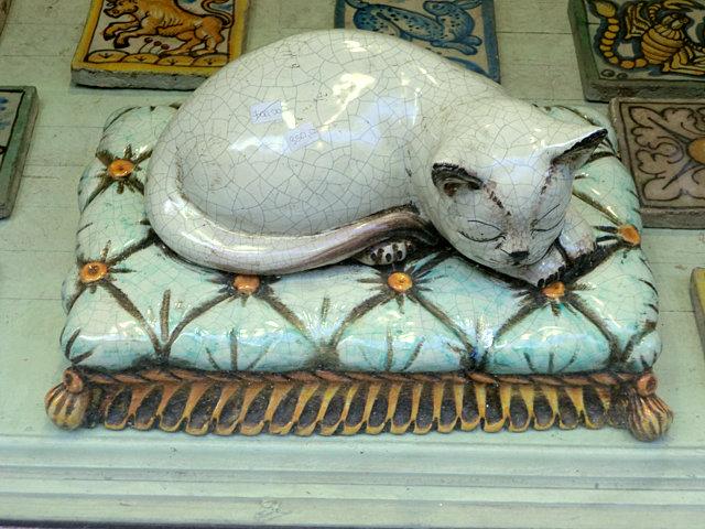パレルモの猫の陶器
