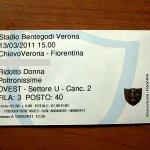 キエーヴォのサッカーチケット