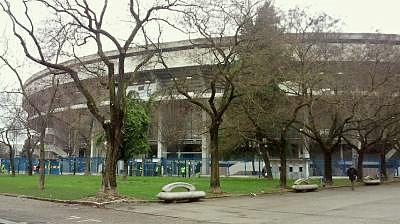 ヴェローナのサッカースタジアム