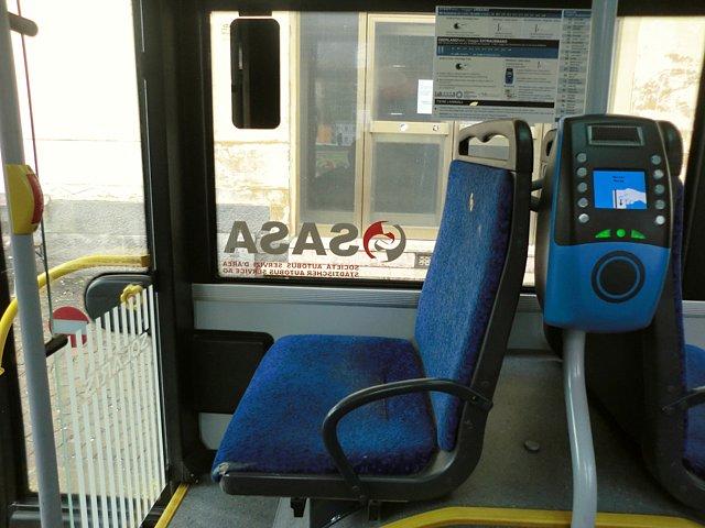 ティローロ行きバス車内