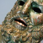 ローマ国立博物館マッシモ宮の数珠の彫刻「休むボクサー」