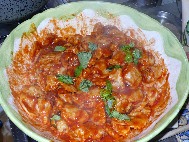 ravioli with ragù