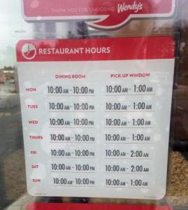 Wendys Hours [ What are the Wendy's Special Restaurant Hours? ]