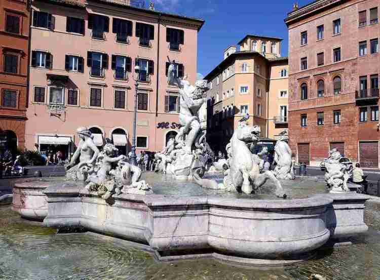 Fountain of Neptune in Piazza Navona, Rome