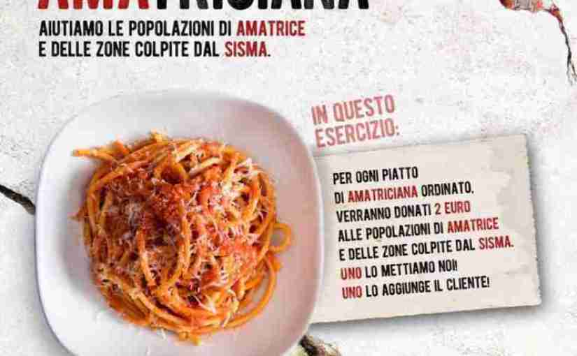 #amatricianaXamatrice to Raise Money for Earthquake Relief