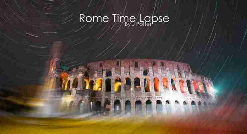 Lovely Time Lapse Video of Rome