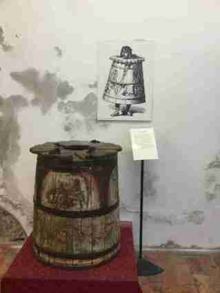 Torture implements in the Fortress of San Leo - the barrel