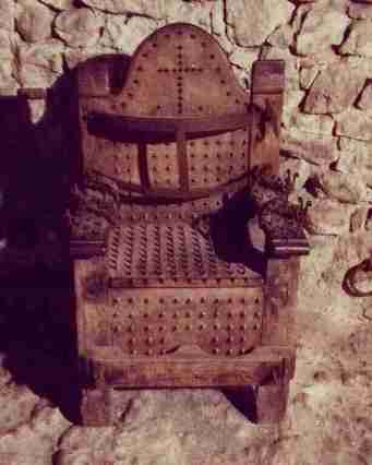 Torture implements in the Fortress of San Leo - the torture chair