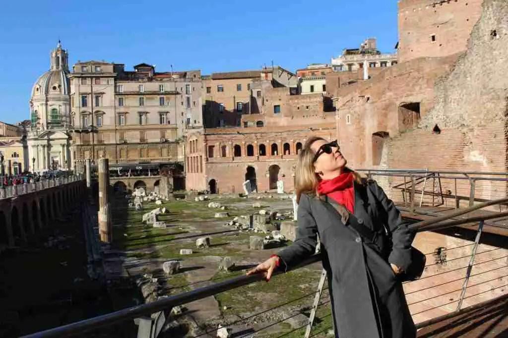 Melanie Renzulli at Trajan's Markets/Mercato di Traiano in Rome