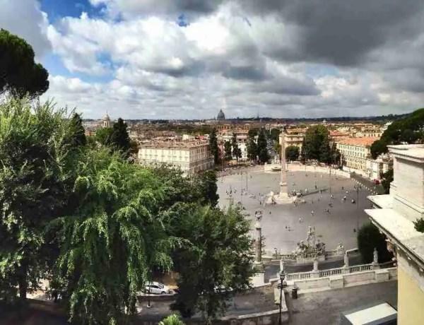 View of Piazza del Popolo from the Pincio