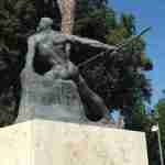 Enrico Toti statue (from behind), Villa Borghese