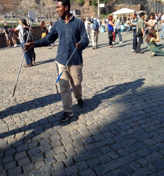 Selfie Stick seller down by the Colosseum